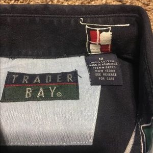 Trader Bay Shirts - Trader Bay Mens Size Medium M Flag Print Button Up